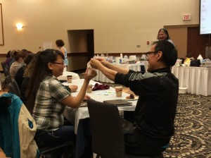 "Having fun at the ""Hands-on Science"" workshop"
